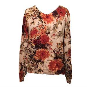 💫Rafaella Floral Sweater Cardigan VTG